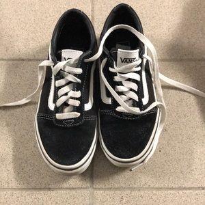 Vans black shoes